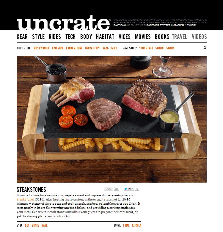 SteakStones on Uncrate