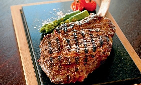 Centre Cut Steak on the Stone with SteakStones