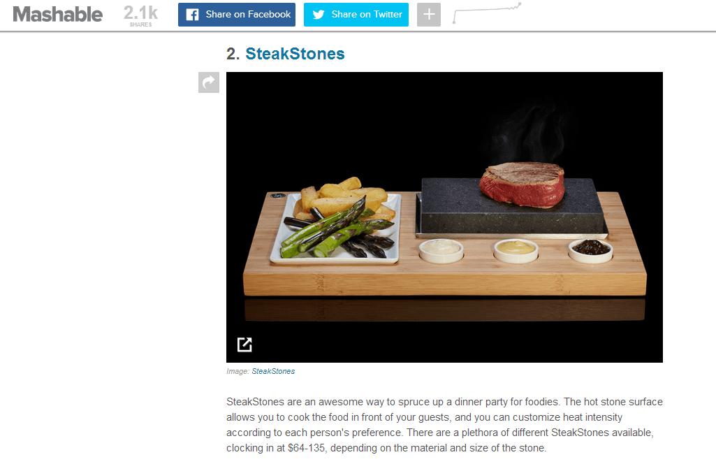 Mashable Review SteakStones
