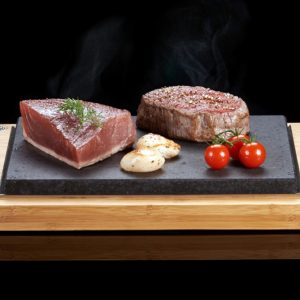 The SteakStones Steak Sharer. The best Hot Stone Products you can find, guaranteed for life.