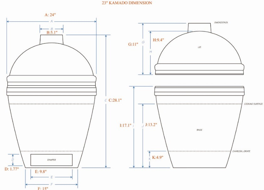 Big Green Egg Table Dimensions Thousands Pictures Of